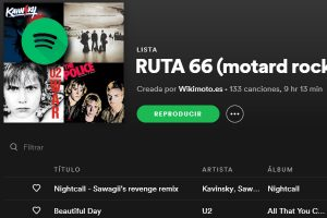 RUTA 66 - PLAYLIST SPOTIFY