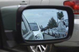 retrovisor coche trafico